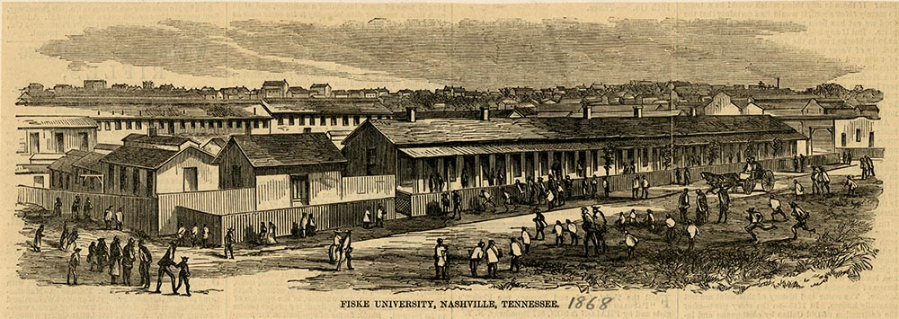 Fisk University was originally established at the site of former Union Army hospital barracks.