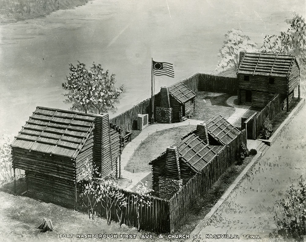 Bluff Station in Nashville, later known as Fort Nashborough