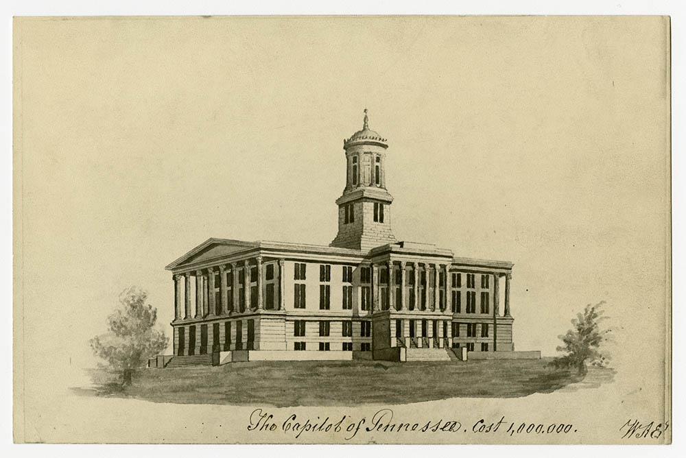Tennessee's new Capitol, finished 1859