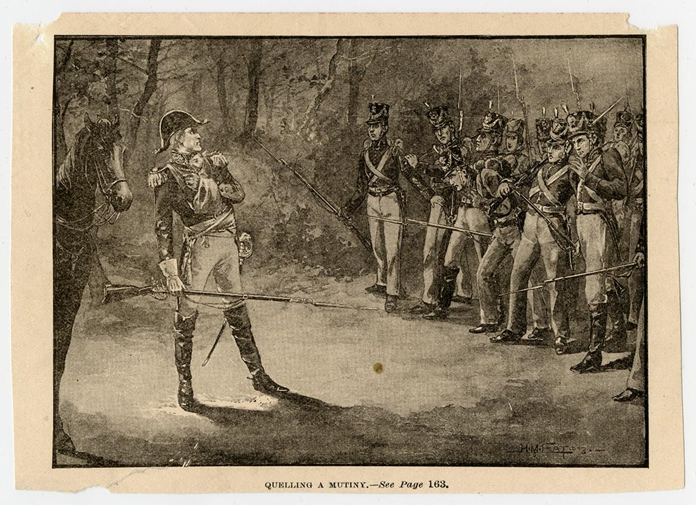 General Andrew Jackson suppressing a mutiny among his troops