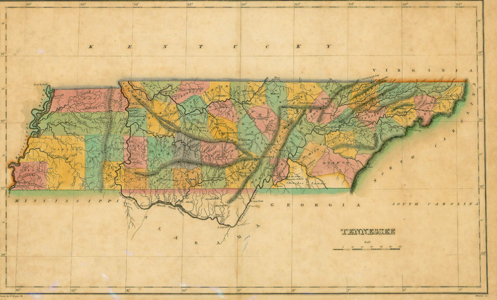 West Tennessee now part of the United States, 1822