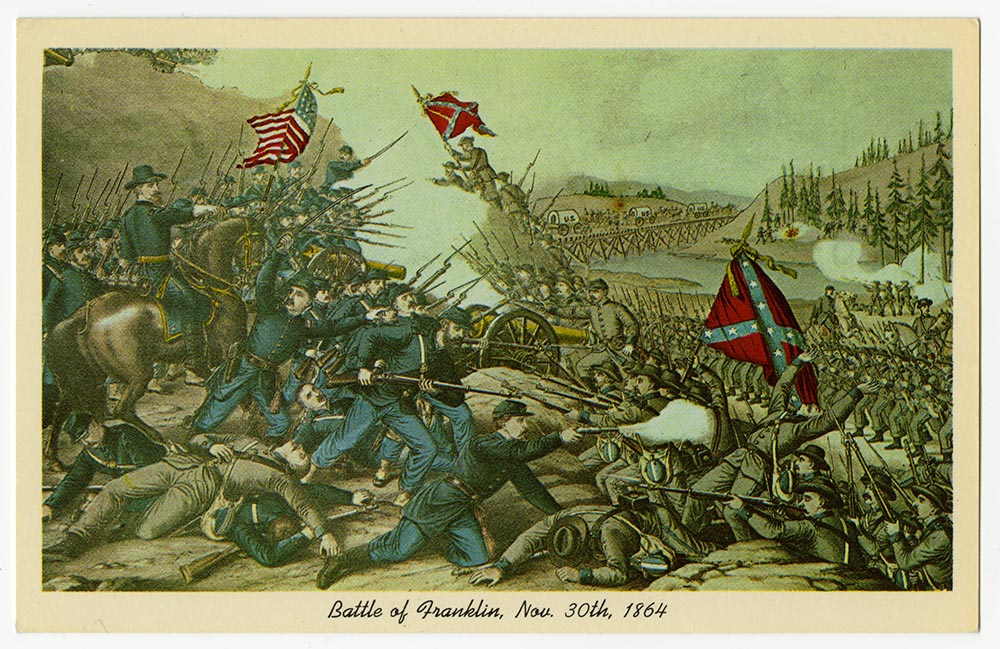 Lithograph of the Battle of Franklin