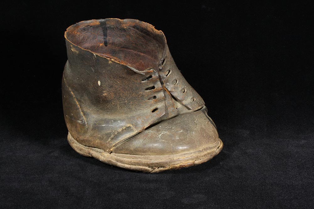 Specially constructed shoe for David M. Dotson, who lost his foot at the Battle of Franklin