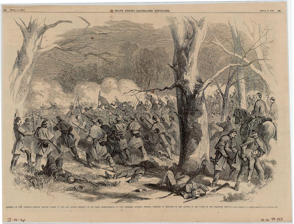 Storming of Fort Donelson by the Iowa Second Regiment