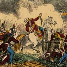 Death of British General Pakenham at Battle of New Orleans