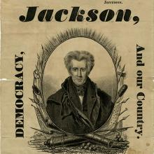 A broadside featuring the electors for presidential candidate Andrew Jackson
